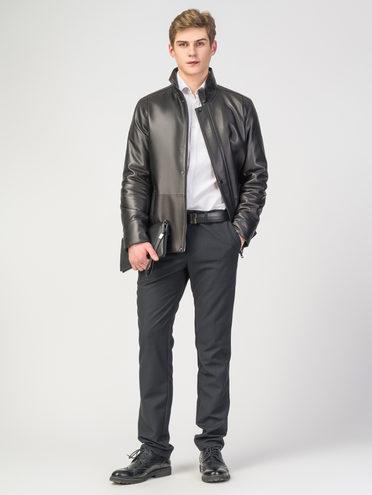 Кожаная куртка кожа, цвет черный, арт. 18108299  - цена 7990 руб.  - магазин TOTOGROUP