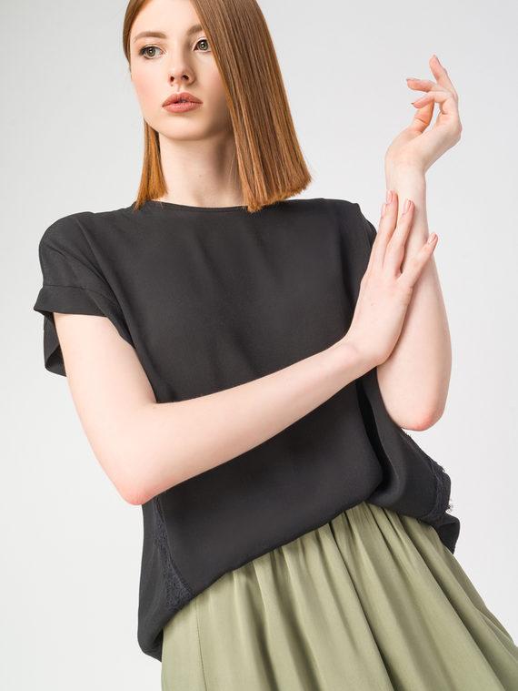 Блуза 100% вискоза, цвет черный, арт. 18108320  - цена 2420 руб.  - магазин TOTOGROUP