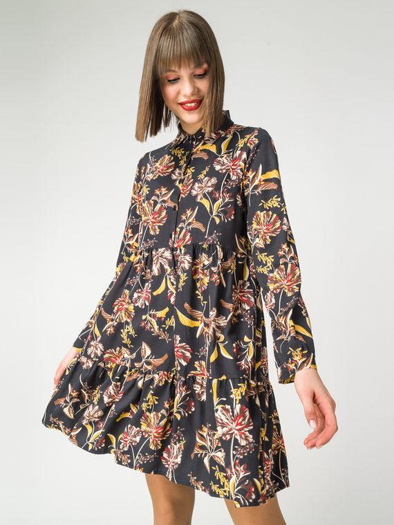 Платье 100% вискоза, цвет черный, арт. 18108355  - цена 3590 руб.  - магазин TOTOGROUP