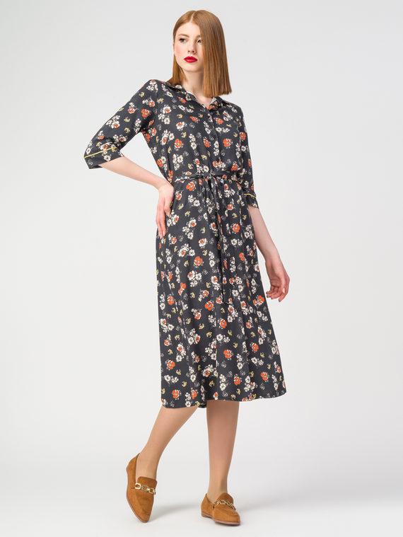 Платье 100% вискоза, цвет черный, арт. 18108358  - цена 3790 руб.  - магазин TOTOGROUP