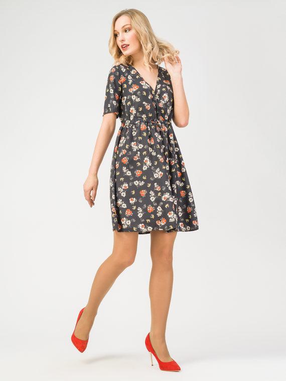 Платье 100% вискоза, цвет черный, арт. 18108359  - цена 3590 руб.  - магазин TOTOGROUP