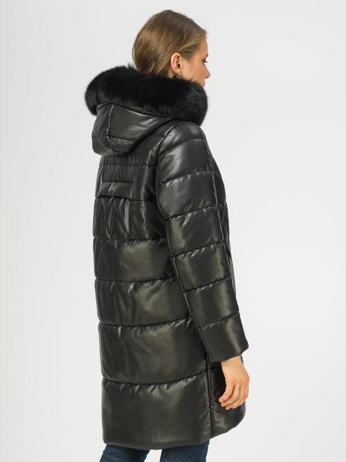 Кожаное пальто артикул 18108391/44 - фото 3