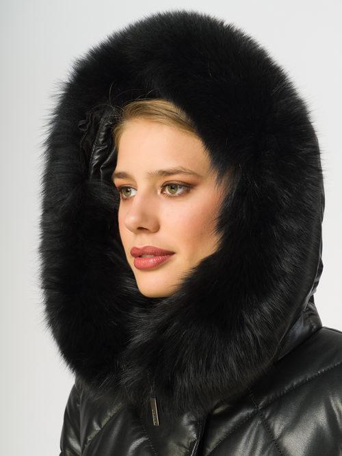 Кожаное пальто артикул 18108391/44 - фото 4