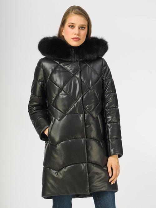 Кожаное пальто артикул 18108391/44