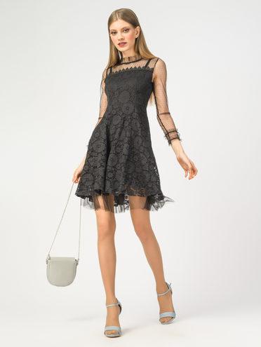 Платье 60% полиэстер, 40% полиуретан, цвет черный, арт. 18108426  - цена 1570 руб.  - магазин TOTOGROUP