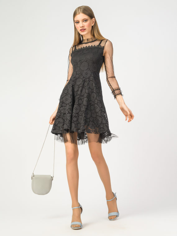 Платье 60% полиэстер, 40% полиуретан, цвет черный, арт. 18108426  - цена 2550 руб.  - магазин TOTOGROUP