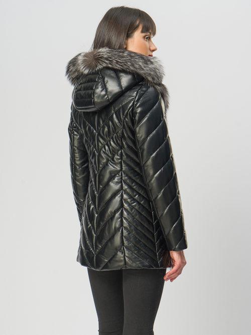 Кожаная куртка артикул 18108490/42 - фото 3