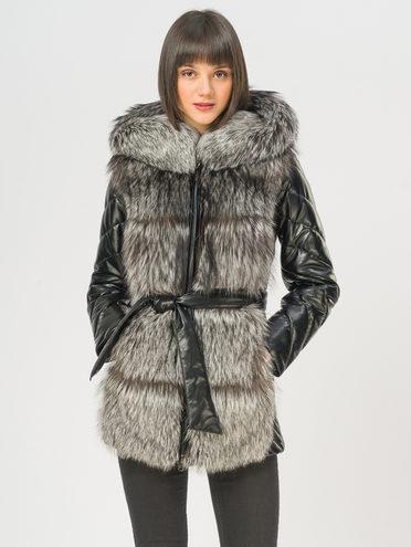 Кожаная куртка эко-кожа 100% П/А, цвет черный, арт. 18108490  - цена 15990 руб.  - магазин TOTOGROUP