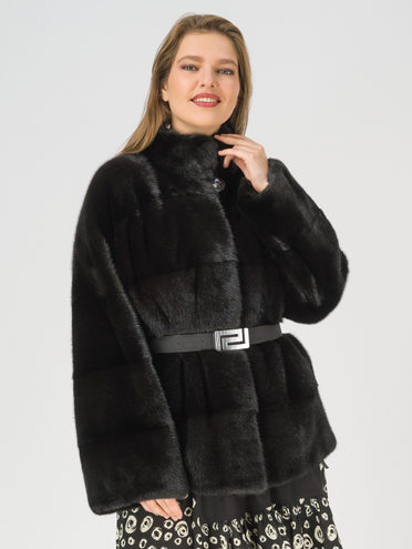 Шуба мех норка крашен., цвет черный, арт. 18108493  - цена 71990 руб.  - магазин TOTOGROUP