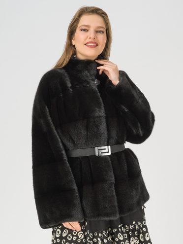 Шуба из норки мех норка, цвет черный, арт. 18108493  - цена 112990 руб.  - магазин TOTOGROUP