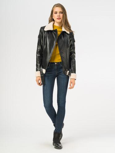 Кожаная куртка эко-кожа 100% П/А, цвет черный, арт. 18108574  - цена 10590 руб.  - магазин TOTOGROUP
