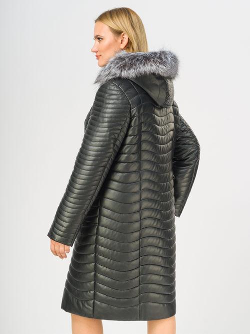 Кожаное пальто артикул 18108579/48 - фото 3
