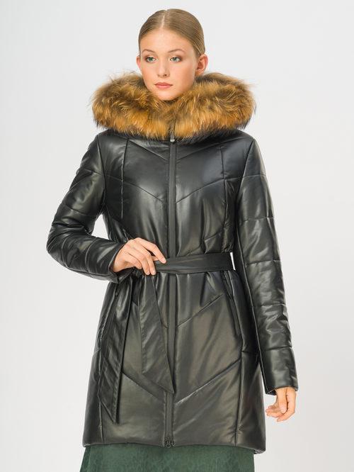 Кожаное пальто артикул 18108580/44 - фото 2