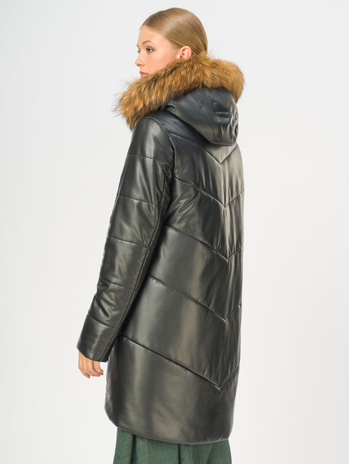 Кожаное пальто артикул 18108580/44 - фото 3