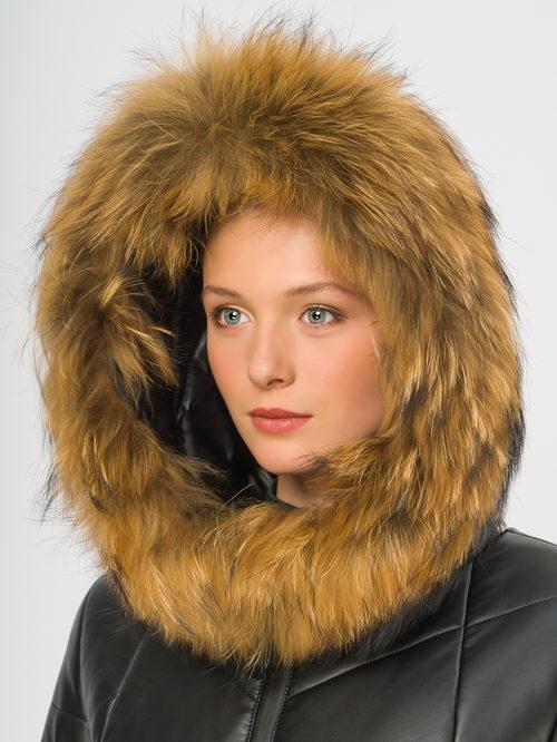 Кожаное пальто артикул 18108580/44 - фото 4