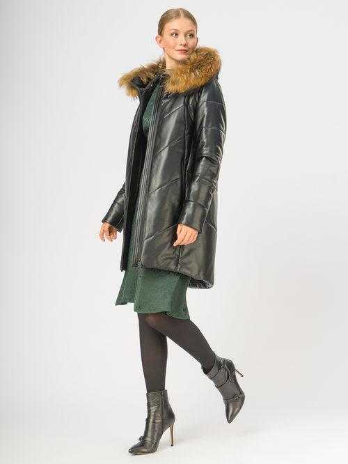 Кожаное пальто артикул 18108580/44