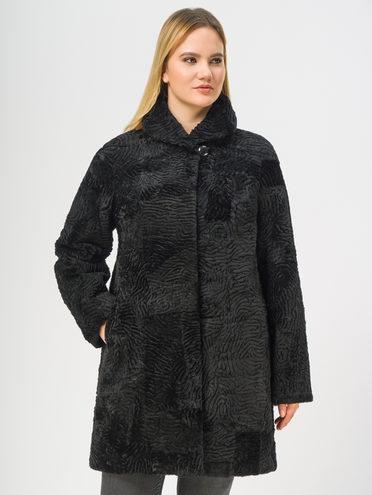 Шуба из мутона мех мутон, цвет черный, арт. 18108661  - цена 8490 руб.  - магазин TOTOGROUP