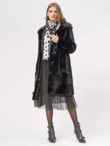 Шуба из норки мех норка, цвет черный, арт. 18108804  - цена 59990 руб.  - магазин TOTOGROUP