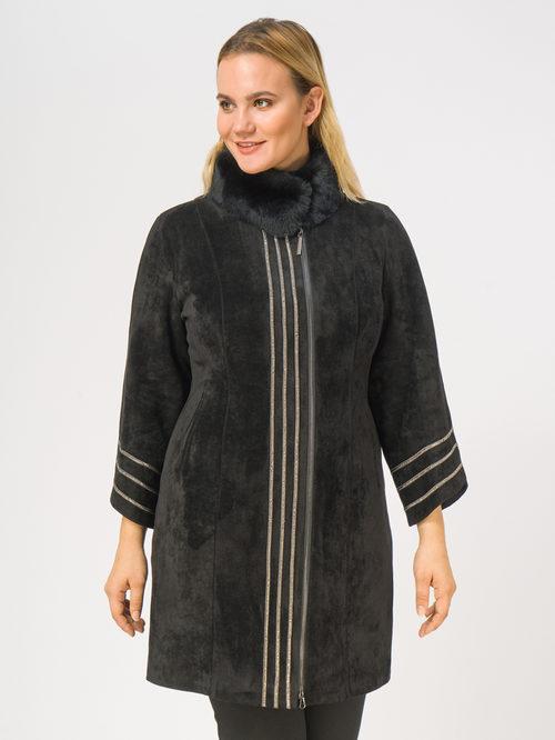 Кожаное пальто артикул 18108835/46 - фото 2