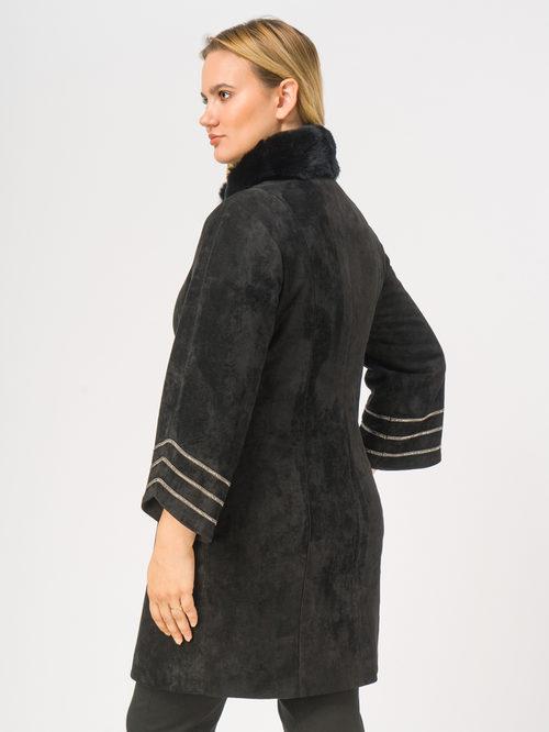 Кожаное пальто артикул 18108835/46 - фото 3