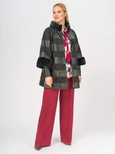 Кожаная куртка эко-замша 100% П/А, цвет черный, арт. 18108836  - цена 14990 руб.  - магазин TOTOGROUP