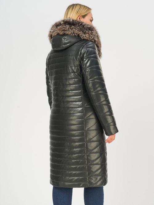 Кожаное пальто артикул 18108839/46 - фото 3