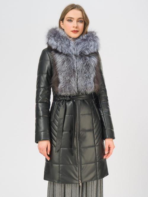 Кожаное пальто артикул 18108843/42 - фото 2