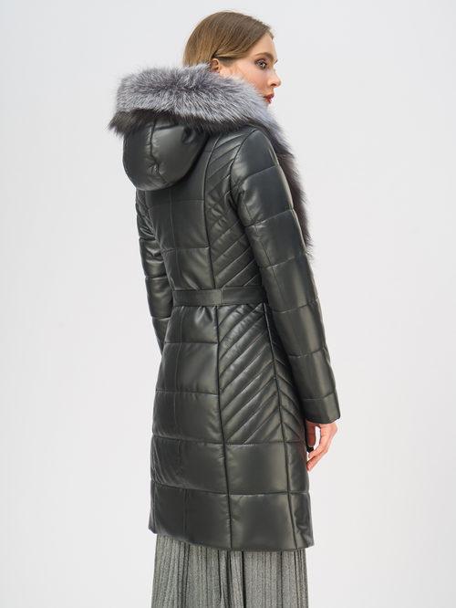 Кожаное пальто артикул 18108843/42 - фото 3