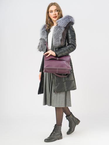 Кожаное пальто эко-кожа 100% П/А, цвет черный, арт. 18108843  - цена 17990 руб.  - магазин TOTOGROUP