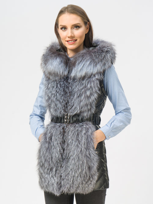 Кожаная куртка артикул 18108844/42 - фото 4