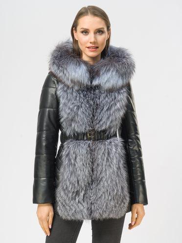 Кожаная куртка эко-кожа 100% П/А, цвет черный, арт. 18108844  - цена 17990 руб.  - магазин TOTOGROUP