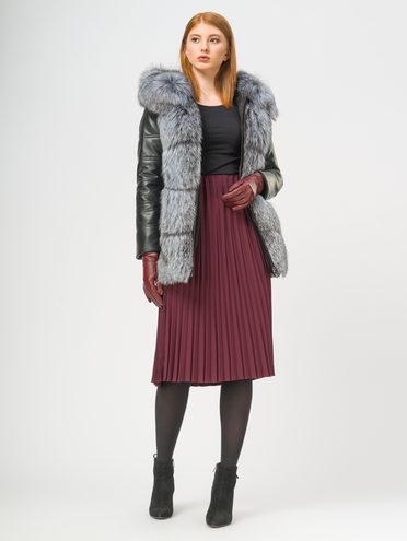 Кожаная куртка эко-кожа 100% П/А, цвет черный, арт. 18108846  - цена 17990 руб.  - магазин TOTOGROUP