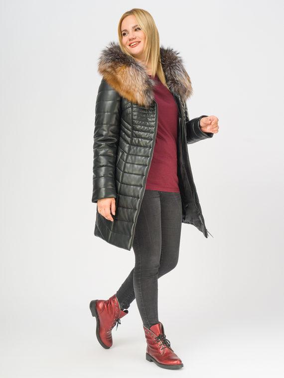 Кожаное пальто эко-кожа 100% П/А, цвет черный, арт. 18108849  - цена 12690 руб.  - магазин TOTOGROUP