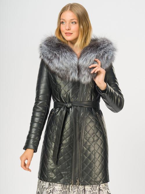 Кожаное пальто артикул 18108850/44 - фото 2