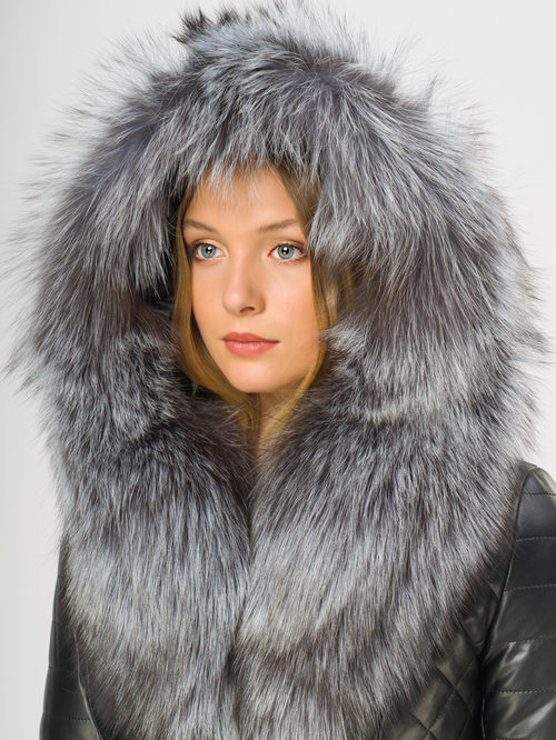 Кожаное пальто артикул 18108850/44 - фото 4