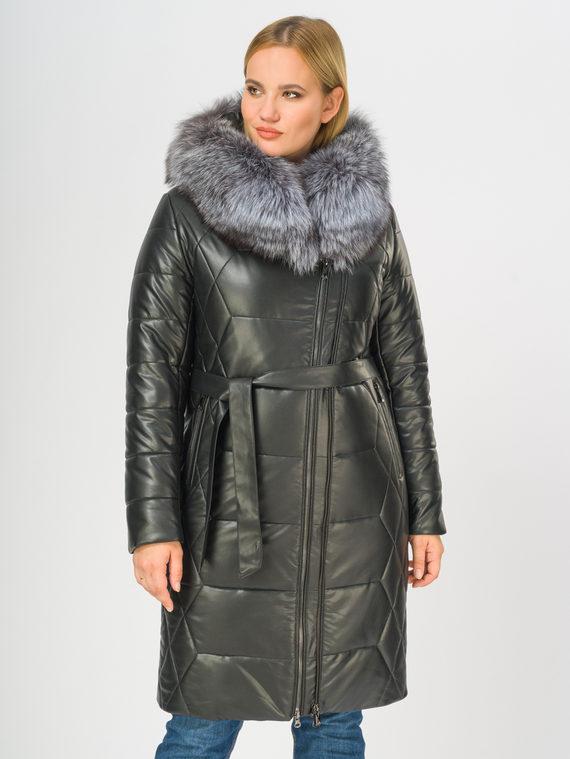 Кожаное пальто эко-кожа 100% П/А, цвет черный, арт. 18108851  - цена 12690 руб.  - магазин TOTOGROUP