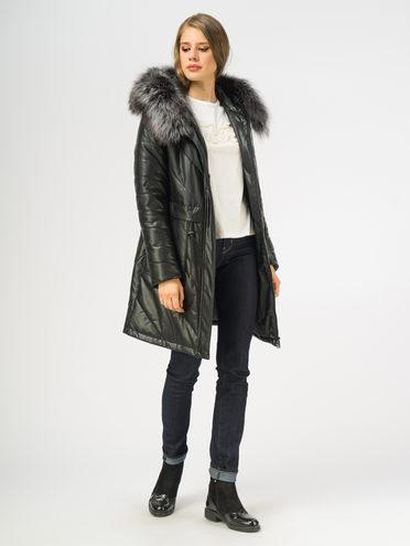Кожаное пальто эко-кожа 100% П/А, цвет черный, арт. 18108853  - цена 10590 руб.  - магазин TOTOGROUP