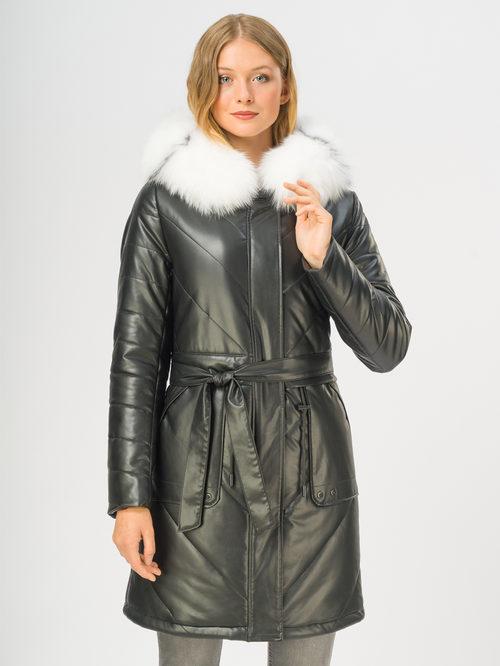 Кожаное пальто артикул 18108854/44 - фото 2