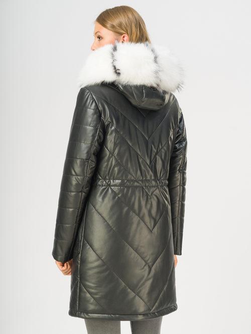 Кожаное пальто артикул 18108854/44 - фото 3