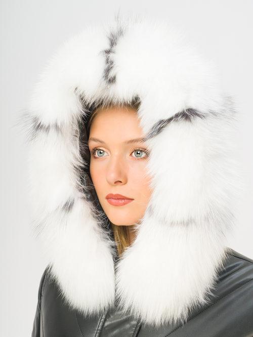Кожаное пальто артикул 18108854/44 - фото 4