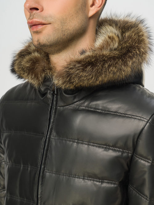 Кожаная куртка артикул 18108868/48 - фото 4