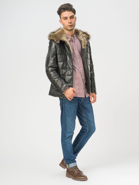 Кожаная куртка эко-кожа 100% П/А, цвет черный, арт. 18108868  - цена 14990 руб.  - магазин TOTOGROUP