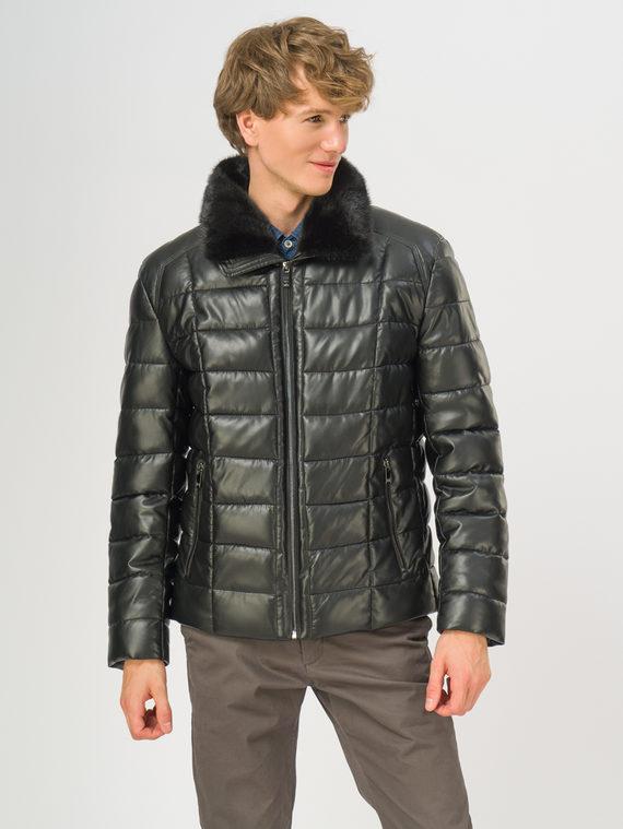 Кожаная куртка эко-кожа 100% П/А, цвет черный, арт. 18108869  - цена 14990 руб.  - магазин TOTOGROUP