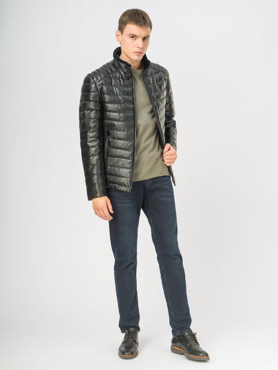 Кожаная куртка эко-кожа 100% П/А, цвет черный, арт. 18108870  - цена 11990 руб.  - магазин TOTOGROUP