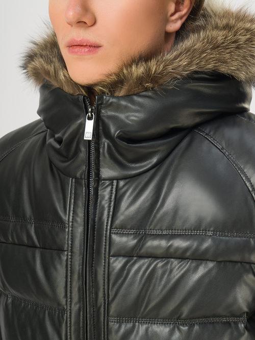 Кожаная куртка артикул 18108871/48 - фото 4
