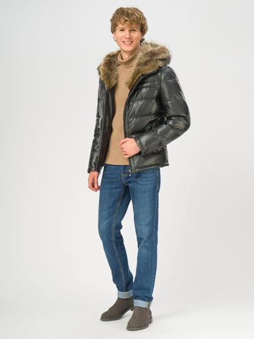 Кожаная куртка эко-кожа 100% П/А, цвет черный, арт. 18108871  - цена 21290 руб.  - магазин TOTOGROUP