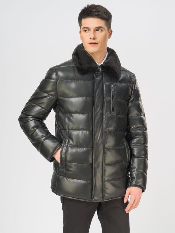 Кожаная куртка эко-кожа 100% П/А, цвет черный, арт. 18108872  - цена 15990 руб.  - магазин TOTOGROUP