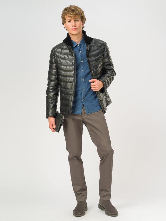 Кожаная куртка эко-кожа 100% П/А, цвет черный, арт. 18108873  - цена 13390 руб.  - магазин TOTOGROUP