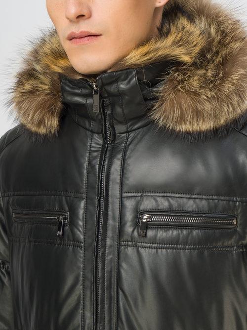 Кожаная куртка артикул 18108874/48 - фото 4