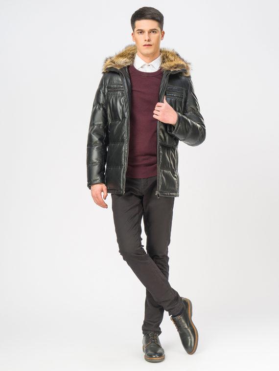 Кожаная куртка эко-кожа 100% П/А, цвет черный, арт. 18108874  - цена 17990 руб.  - магазин TOTOGROUP